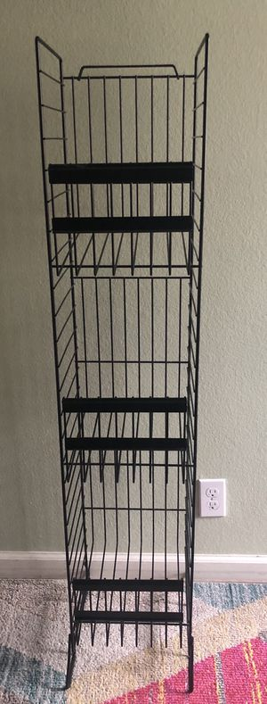 Black metal three-tier shelf storage shelves for Sale in Concord, CA
