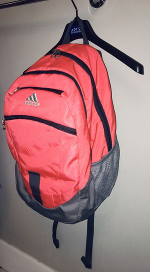 ADIDAS Peach/Pink Reflective & VERY Adjustable Large Adidas Backpack—like new, very gently used! See description for more info 🎒💕💖 for Sale in Nolensville, TN