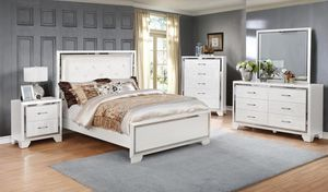 🌈Bianca White Queen/King Bedroom Set | B591 (SameDay Delivery)🌈 for Sale in Alexandria, VA