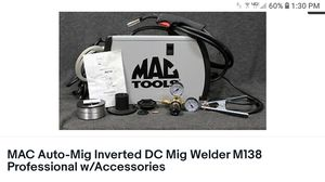 Mac Auto Mig welder Inverted DC M138 for Sale in Plainfield, IL