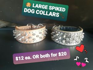 SPIKED Large DOG COLLARS for Sale in Mesa, AZ