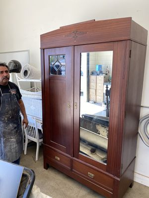 Antique mahogany armoire for Sale in Whittier, CA