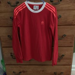 Adidas Sweat Shirt Red W Neon Stripes for Sale in Pittsburgh,  PA