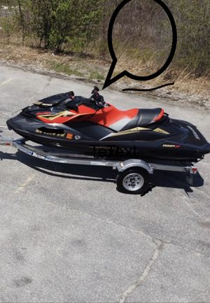 2019 seadoo rxp x 300. And 2020 trinton trailer, jet ski ,sea doo for Sale in Worcester, MA
