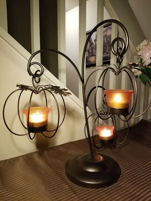 Triple Hanging Pumpkin Candle Holder for Sale in Romeoville, IL