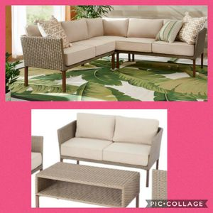 New Patio Furniture Sectional with Loveseat and Table for Sale in Riverside, CA