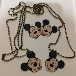 Lot (4) New Mickey Mouse Guitar Picks 2 Are Necklaces for Sale in Wheaton, IL