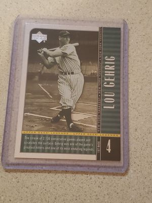 2000 Upper Deck Legends #86 Lou Gehrig for Sale in Hampton, VA