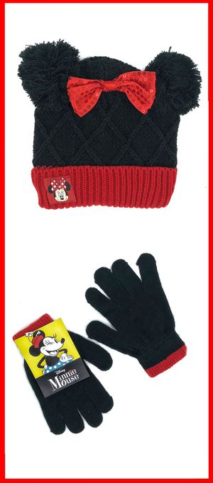 NEW! Disney Minnie Mouse winter knit beenie gloves set beanie Mickey Disneyland for Sale in Carson, CA