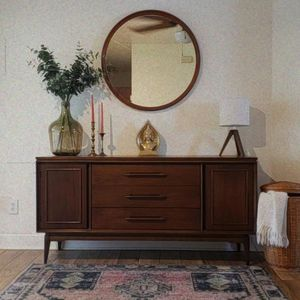 Vintage Antique Whitney Maple Round Mirror for Sale in Cocoa, FL