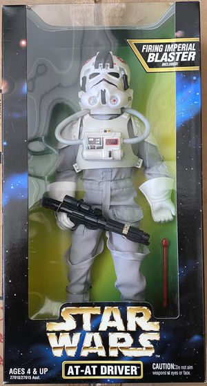 """Star Wars Kenner Action Collection 12"""" inch AT-AT Driver Figure 1997 sealed new for Sale in Garden Grove, CA"""
