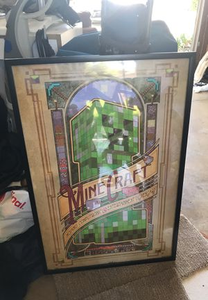 23x35 Minecraft poster frame for Sale in Poway, CA