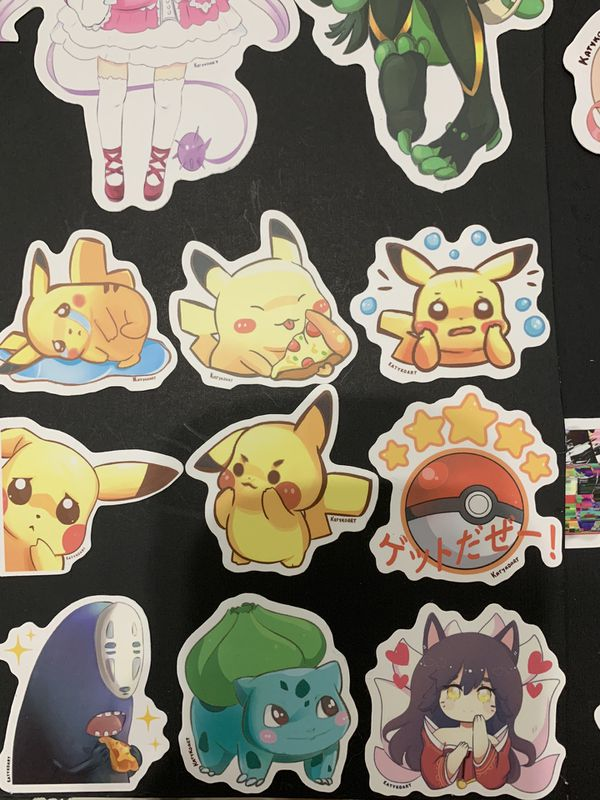 Vinyl Stickers Waterproof Anime Videogame Nintendo Pokemon pikachu Demon slayer sailor moon halloween