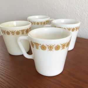 Vintage Pyrex Butterfly Gold Mug Set for Sale in Haines City, FL