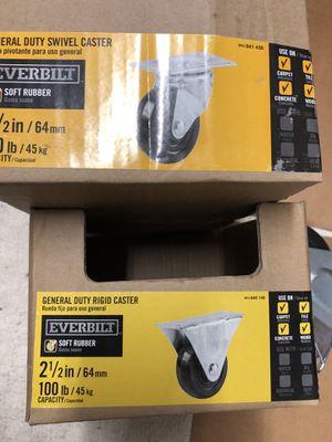1new 13 general duty rigid casters 100 lb 175 lb 225 lb for Sale in Newton, MA