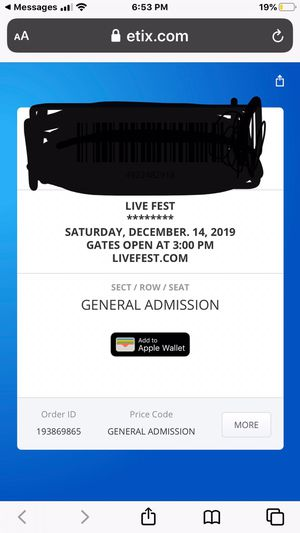 Darius Rucker and Lady Antebellum live fest for Sale in Estero, FL