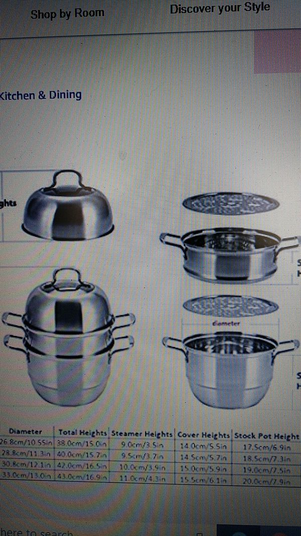 XL Stainless Steel 3 layer steamer cooking pot rice cooker soup stew pan