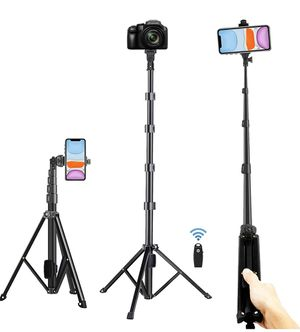 """Selfie Stick Tripod, Extra Long 54"""" Extendable Tripod Stand Phone Tripod Camera Tripod Wireless Remote Shutter Compatible With iphone 11 pro Xs Max X for Sale in Los Angeles, CA"""