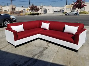 NEW 7X9FT CASSANDRA WINE FABRIC COMBO SECTIONAL COUCHES for Sale in Victorville, CA