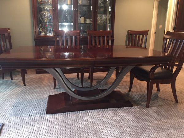 Bernhardt Paris Collection Dining Table And Hutch For