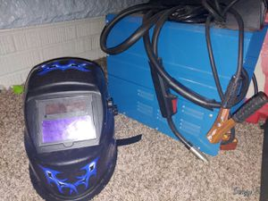 Flux Wire Welder and welding helmet for Sale in Tacoma, WA