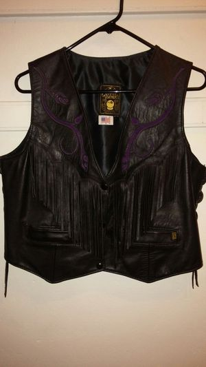 Leather vest ladies for Sale in South Attleboro, MA