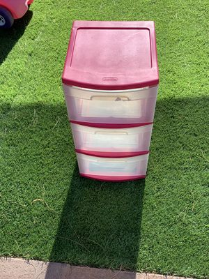 Pink plastic drawers for Sale in Las Vegas, NV