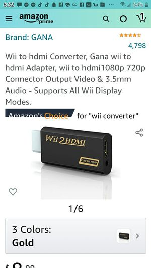 Wii to hdmi converter for Sale in Las Vegas, NV