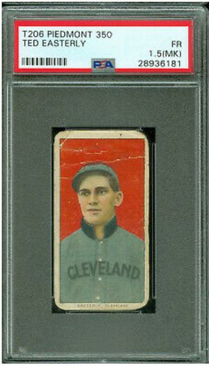 Used, Authentic 1909 T206 tobacco baseball card - Ted Easterly - Piedmont back - PSA graded for Sale for sale  Las Vegas, NV