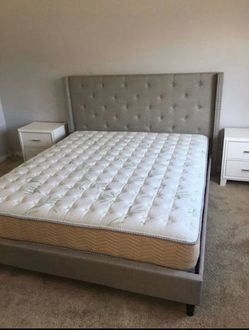 King Size Bed Frame (Mattress Included) for Sale in Los Angeles,  CA