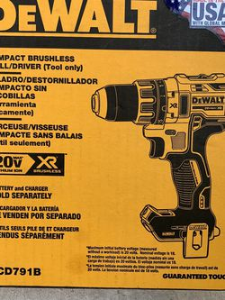 DEWALT XR DC791B COMPACT DRILL DRILL BRUSHLESS for Sale in Normandy Park,  WA