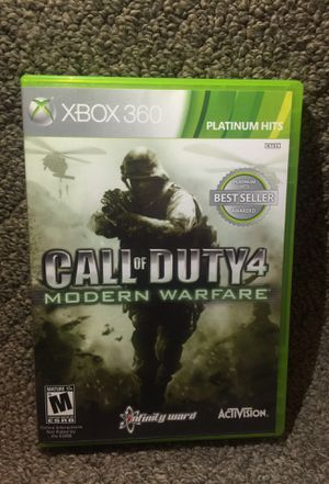 """""""CALL OF DUTY 4: Modern Warefare"""" Platinum Hits for Microsoft Xbox 360 (Very Good Condition!) for Sale in Phoenix, AZ"""