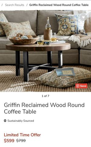Pottery Barn Reclaimed Wood Coffee Table for Sale in Camas, WA