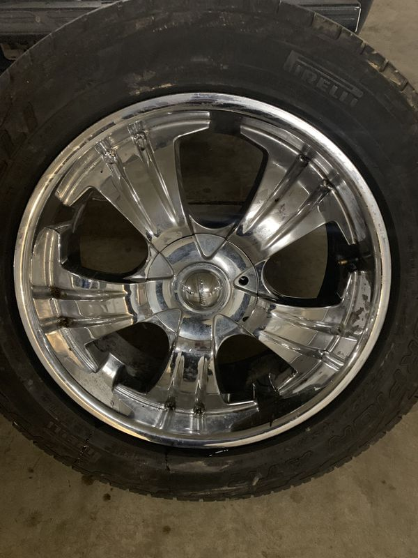 """Set of 4 20""""s chrome rims 6 lug SELL AS IS $250"""