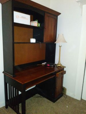 Beautiful wooden desk and hutch for Sale in Oakland, CA
