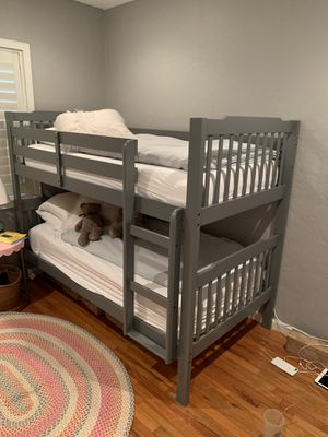 Grey bunk bed w/mattress in excellent condition for Sale in Miami, FL