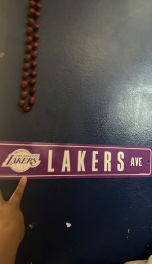 Lakers Ave Street Sign for Sale in West Covina, CA