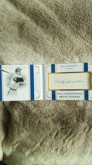 BILLY HERMAN CUT SIGNATURE BOOKLET for Sale in Wheaton, IL