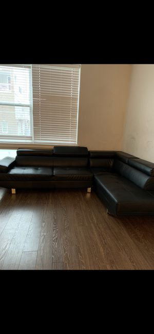 Black leather sofa for Sale in VA, US