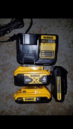 New dewalt 20v MAX XR batteries and charger for Sale in Ashburn, VA