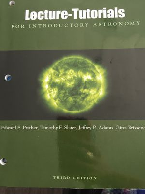 Lecture-Turorials for Introductory Astronomy for Sale in Delaware, OH