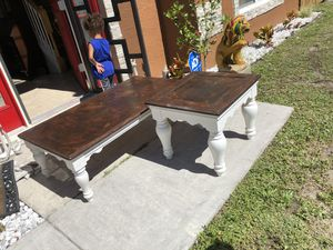 Solid wood Coffee table & one end table Refinishing for Sale in Port St. Lucie, FL