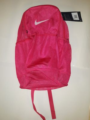 NEW NIKE BRASILIA Adult Mesh/Backpack/ Sports Gym SEE THROUGH BA6050 666 for Sale in Hartford, CT