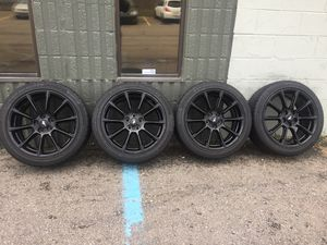 """19"""" FORD MUSTANG GT WHEELS RIMS TIRES GLOSS BLACK CROWN VICTORIA MERCURY GRAND MARQUIS WE FINANCE for Sale in Warren, MI"""