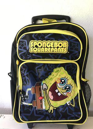 Sponge Bob Squarepants rolling backpack for Sale in Fort Lauderdale, FL