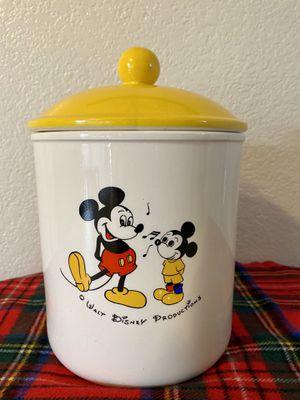 Vtg 1961 Dan Brechner Walt Disney Production Mickey Mouse Lollipop Cookie Jar for Sale in Ontario, CA