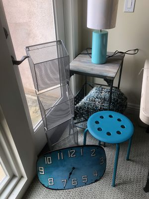 Variety of turquoise room accessories. for Sale in Orange, CA