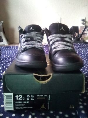 Brand New Jordan 1 mid bp #640734 049 size 12c for Sale in Hesperia, CA