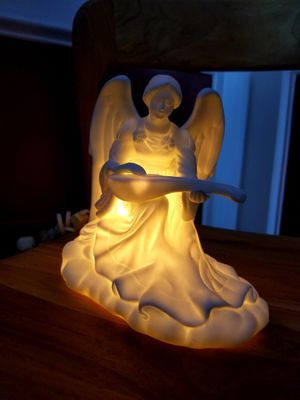 Porcelain angel glowing lamp for Sale in Loganville, GA