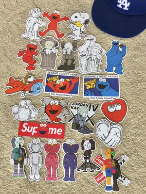 Supreme KAWS and Air Jordan Sticker Collection Pack for Sale in Rosemead, CA